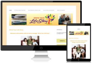 Screen shot of 'Write Your Life Story' website